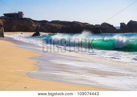 Huge Ocean Waves In Garrapata State Beach In California