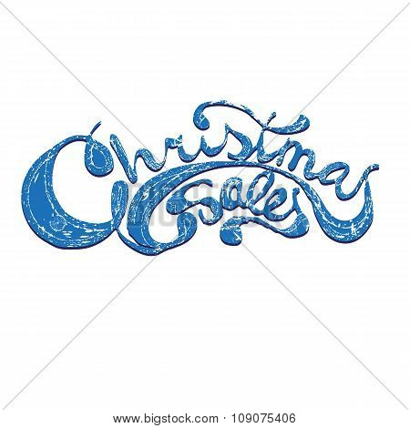 Christmas sales. Complex lettering for design.