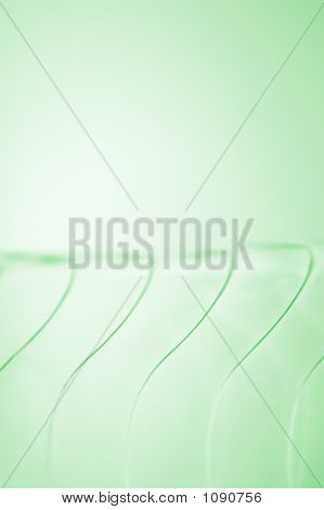 Wavy Patter In Glass On Green
