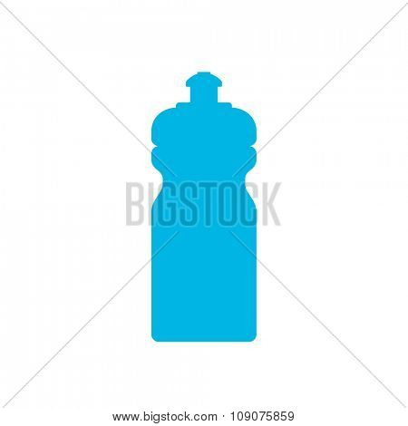 Blue sports water bottle icon isolated on white