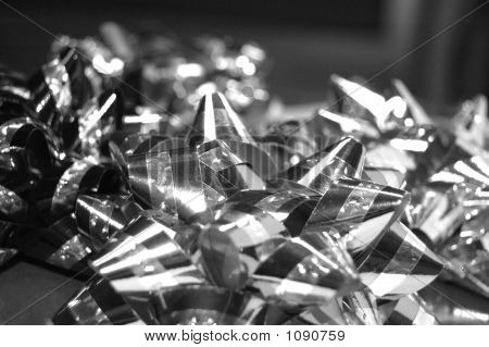 Group Of Bows In Black And White