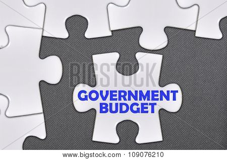 The White Jigsaw Puzzle Written Word Government Budget