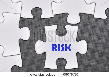 The White Jigsaw Puzzle Written Word Risk