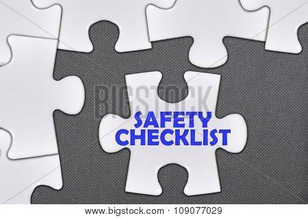 The White Jigsaw Puzzle Written Word Safety Checklist