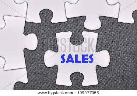 The White Jigsaw Puzzle Written Word Sales