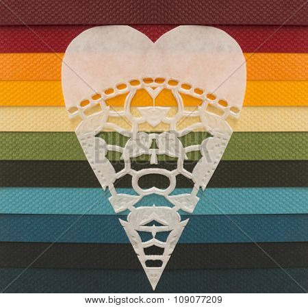 heart symbol on the colorful background
