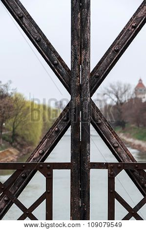 Rusty Metallic Structure At One Bridge