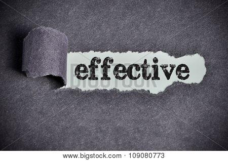 Effective Word Under Torn Black Sugar Paper