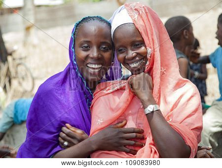 Portrait Of Two African Girls