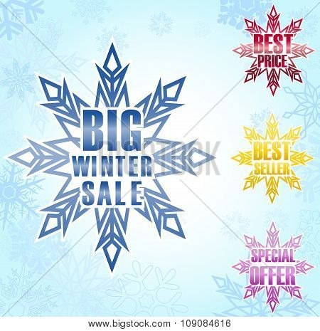 Big winter sale poster background