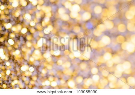abstract golden glitter christmas background, macro photography
