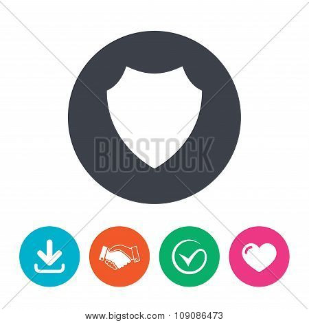 Shield sign icon. Protection symbol.