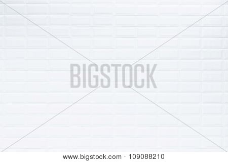 White Ceramic Tile In Bartroom Wall, Texture And Background
