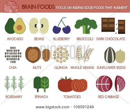 Brain foods focus on adding good foods that augment