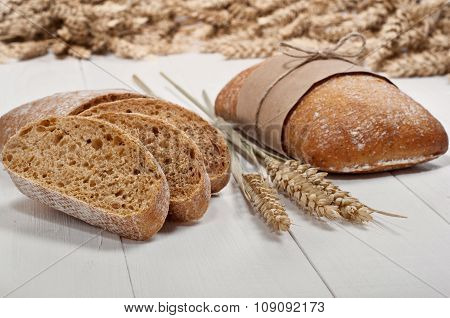 Ciabatta With Ears Of Wheat