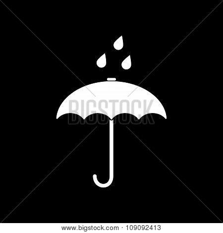 The umbrella bag icon. Rain protection symbol. Flat