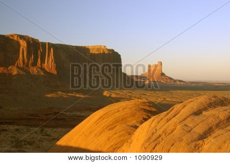 Boulders And Mesas In Monument Valley