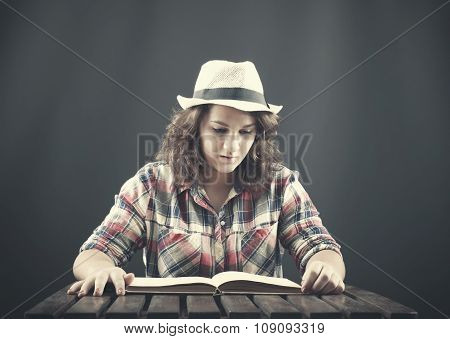 A Teenager Reading