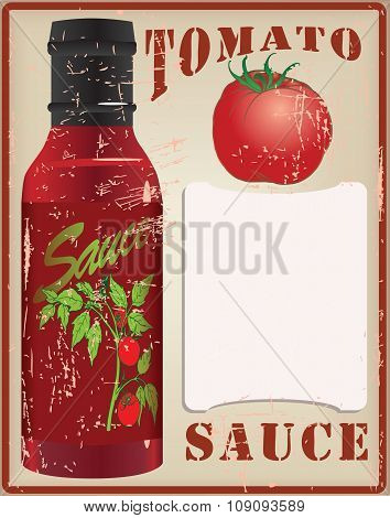 Vintage Card For The Recipe Tomato Sauce