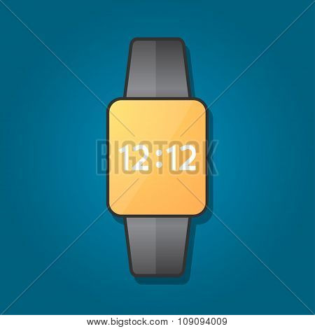 Smart Watch In A Flat Design