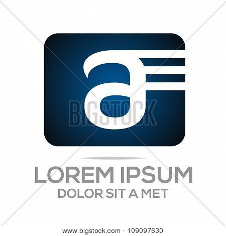 Logo Vector AE Lettermark Business