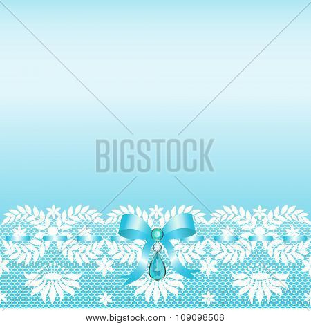Lace border with bow
