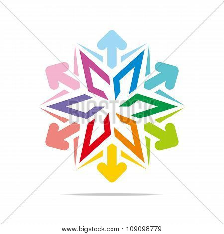 Logo star arrow icon abstract vector