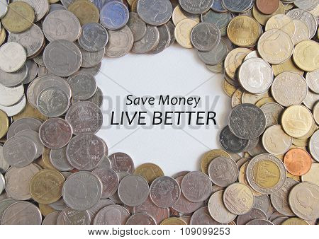 Thai Baht Or Coins Texture For Background