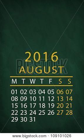 2016 year calendar