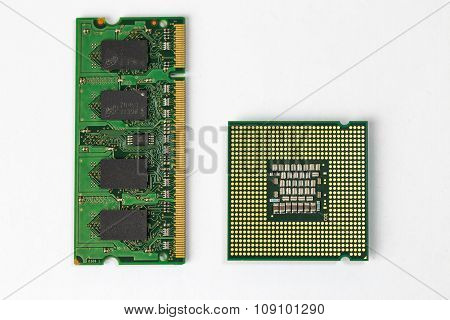 CPU and Ram chips