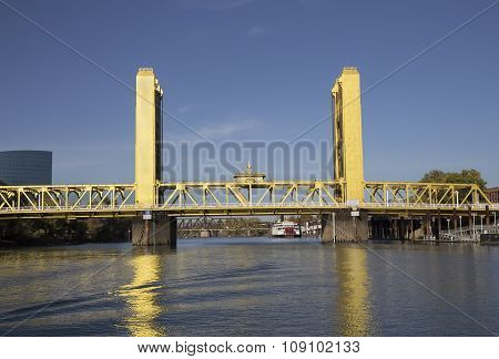 Tower Bridge In Sacramento, Ca.