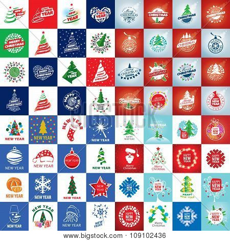 set of vector logo Christmas