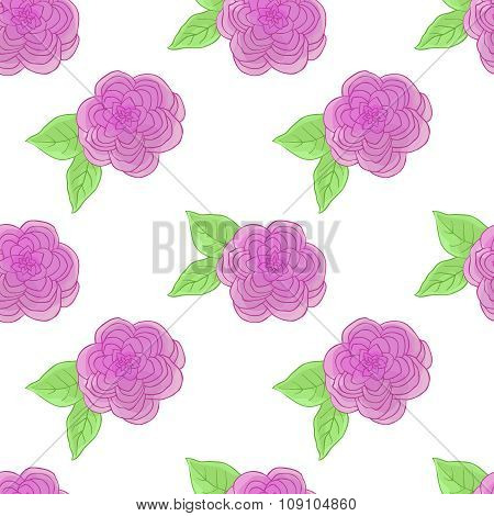 Floral seamless pattern with watercolor effects.