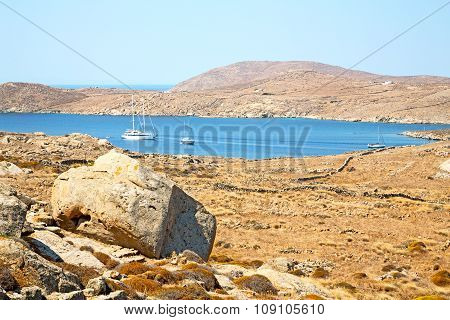 Temple  In Delos Greece The Historycal Acropolis And