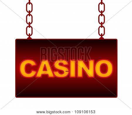 Casino Neon Signboard