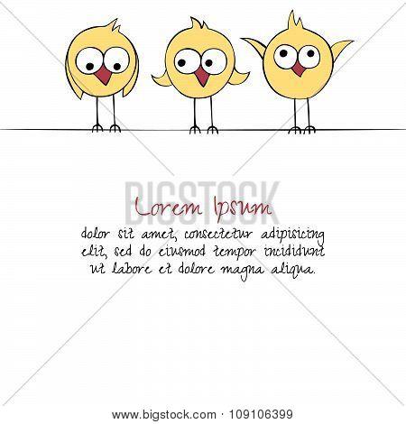 Birds greeting card.