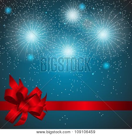 Christmas Snowflakes Background Vector Illustration.