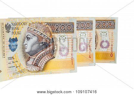 Polish Banknotes Of 200 Pln