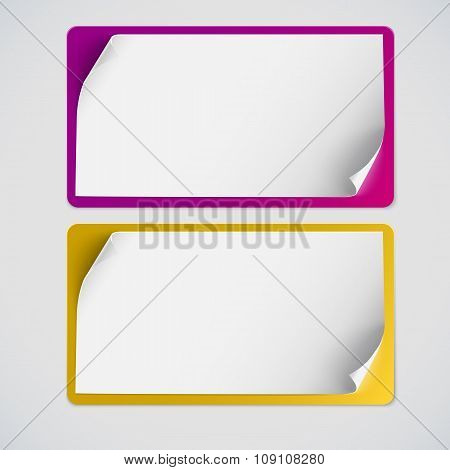 Blank curved banner on white