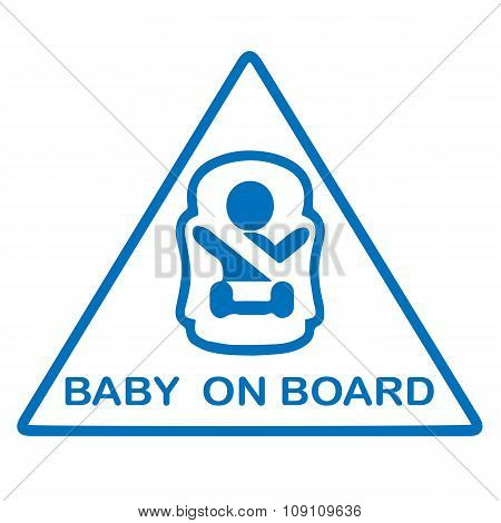 Baby on board sticker.