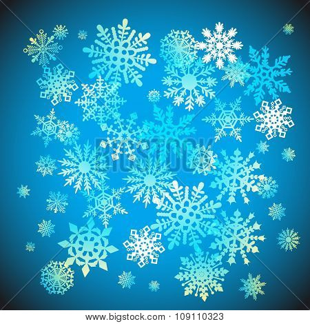 Christmas Snowflakes Snow Winter Holiday Ornament Illustration Background