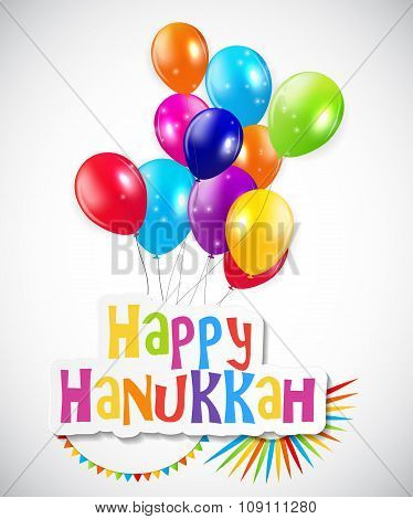 Happy Hanukkah, Jewish Holiday Background. Vector Illustration.