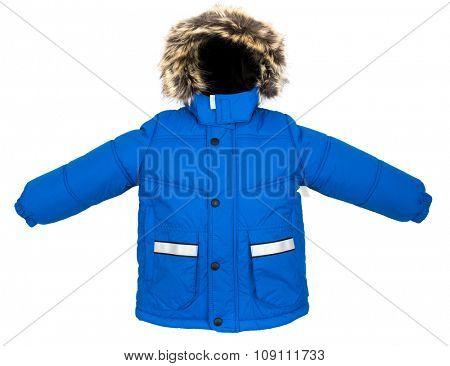 Winter warm jacket isolated on white background