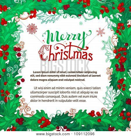 Vector Merry Christmas Background.