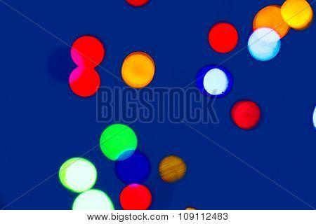 Multicolored Bright Lights Christmas Tree Garland