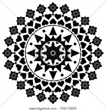 Ornament Round Mandalas Decorative Elements Islam, Arabic, Indian, Ottoman Motifs. Vector Illustrati