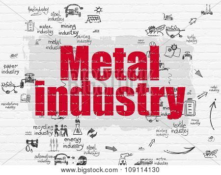 Industry concept: Metal Industry on wall background