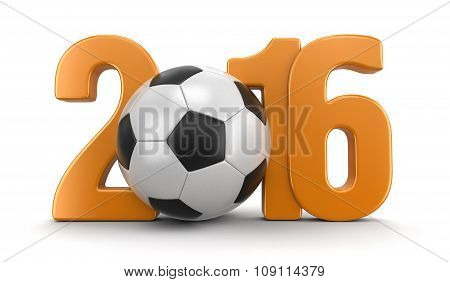Soccer football with 2016