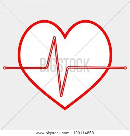Pulse heartbeat icon line