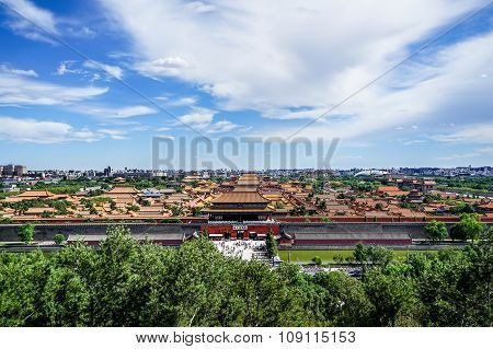 The Aerial View of the Forbidden City, Beijing, China